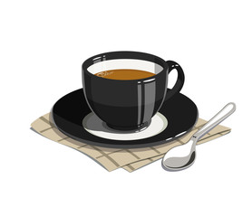 Cup of coffee. Eps10 vector illustrations. Isolated on white