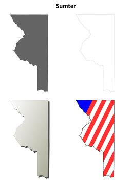 Sumter County (Florida) outline map set