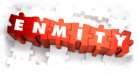 Enmity - White Word on Red Puzzles.