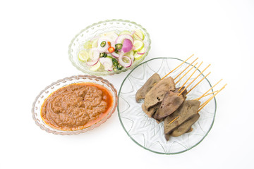 pork liver Satay with Peanut Sauce