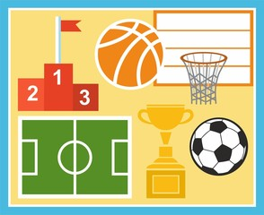 Sport, physical education, football, basketball, Cup, prize.