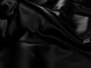 Black Silk Cloth Abstract Background