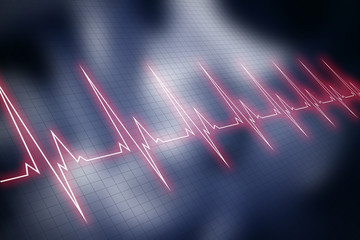 Cardiogram line background.