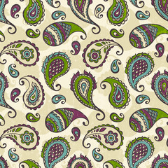 Paisley hand-drawn ornament.