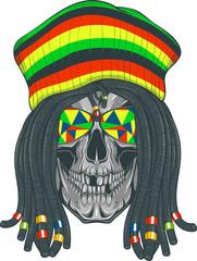 Skull Rastafarian