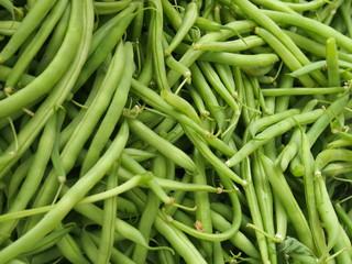 Gartenbohnen vom Markt