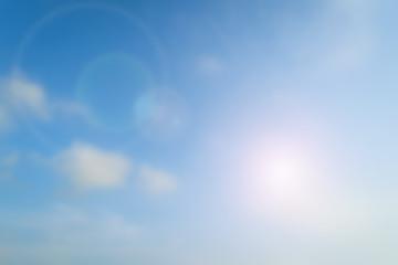 Blurred  Flare Blue sky