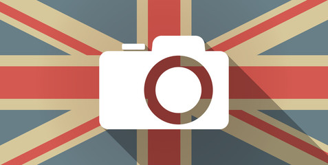 UK flag icon with a photo camera