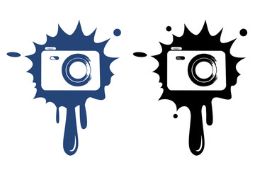 Photo camera - vector icon isolated