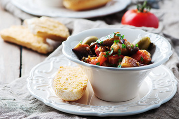 Wall Murals Ready meals Traditional sicilian dish caponata with eggplant and tomato