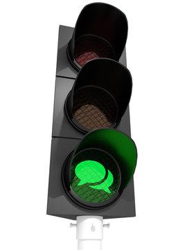 Talking allowed (traffic light)