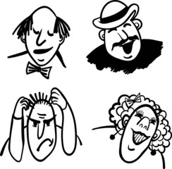 vector comic illustration people and emotions