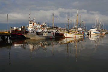 Steveston Harbor, Moody Sky
