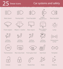 Vector car interface icons set