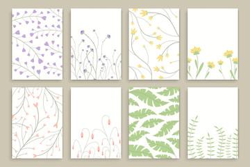 Vector Illustration of Floral Brochure Design Templates