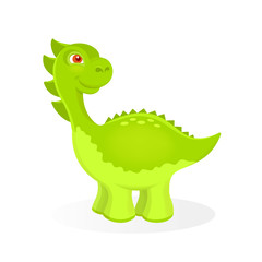 Vector illustration of cartoon dinosaur character