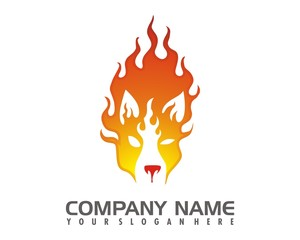 fox fire logo image vector