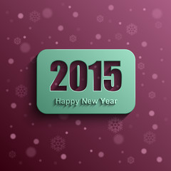 Happy new year 2015 modern vector background, Text design