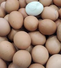 Boiled eggs pile