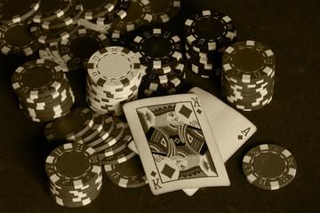 card poker casino chips