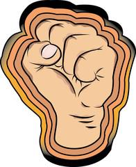A fist cartoon