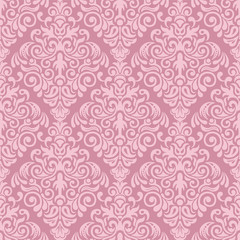 Seamless damask pattern for background or wallpaper design