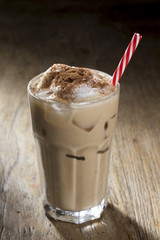 Garden Poster Milkshake Glass of Ice coffee.