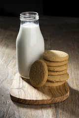 Bottle of Milk and Cookies.