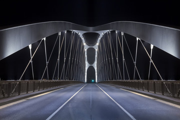 Photo sur Aluminium Pont Modern Bridge at night