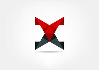 X modern business vector logo template