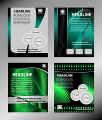 Abstract brochure design templates. Modern back