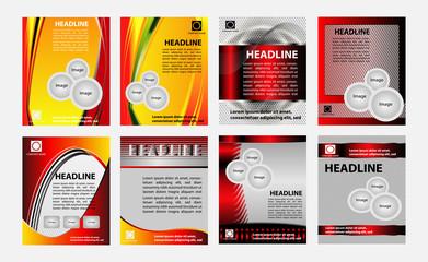 Set of Brochure booklet cover design template