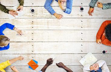 Casual People Diversity Brainstorming Meeting Concept