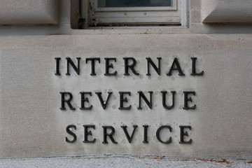 IRS Headquarters Sign
