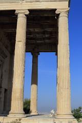 Classic Greek columns, Acropolis, Athens