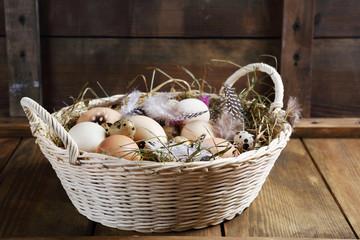 basket full of fresh eggs