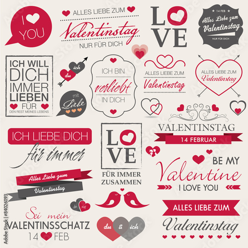 Valentinstag 14 Februar Liebe Love Valentin Grau