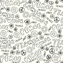 Doodles inscription Flower Power.