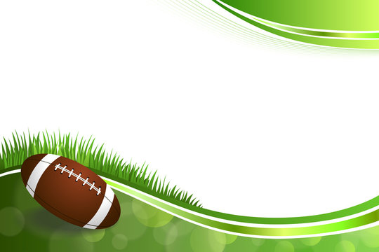 Background abstract green American football ball