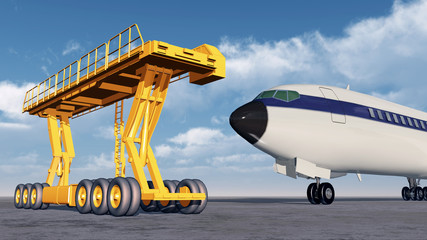 Airport loader and airliner