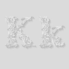 Decorated letter k