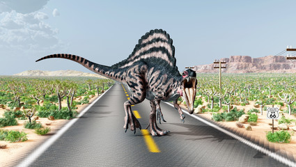 Spinosaurus on the Route 66