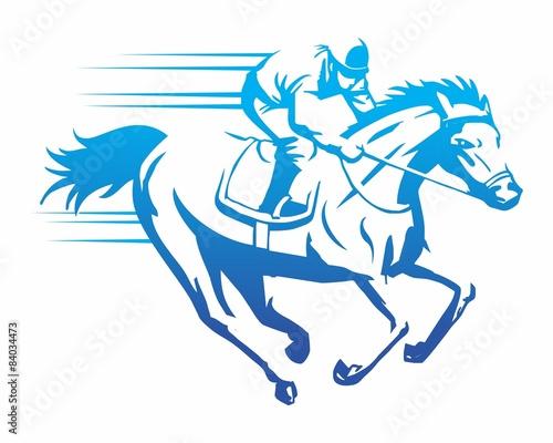 blue horserace image vector
