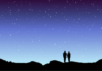 Couple silhouette twilight 2