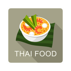 Thai Food vector illustration
