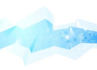 Team communication concept geometric background