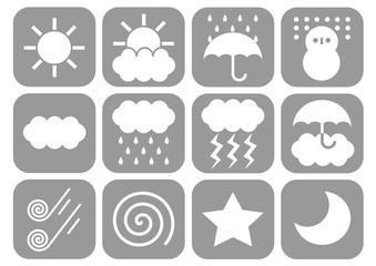 天気 アイコン Weather icons
