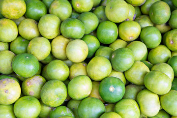 Heap of limes on market