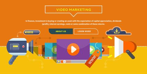 Video Marketing. Concept for Banner, Presentation
