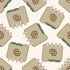 Computer-related desktop icon , cartoon seamless pattern background